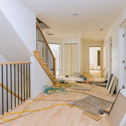A scene of household repairs